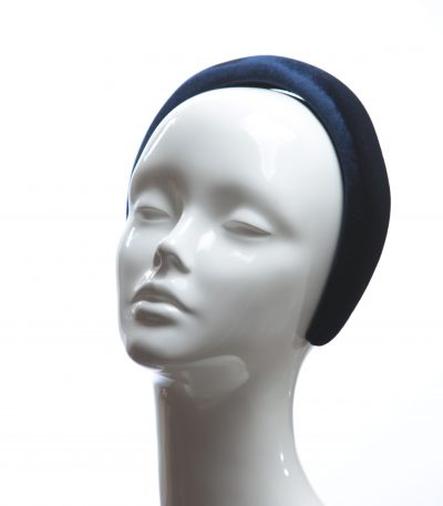 Navy Blue Velvet Headband Wedding Fascinator hat