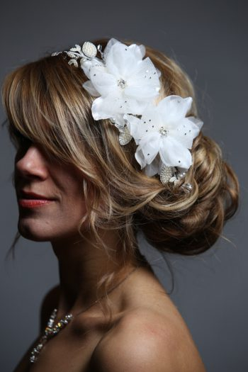 ivory flowers pearl and rhinestone wired comb bridal headpiece (1)