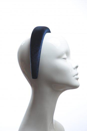 Navy Blue Velvet Headband Wedding Fascinator hat