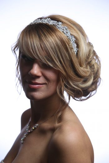 Silver rhinestone diamante fascinator headband